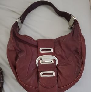 Red/brown Michael kors small leather purse